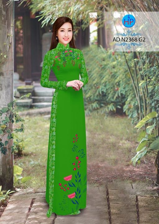 Vải áo dài hoa hướng dương AD TNAD 2892 6