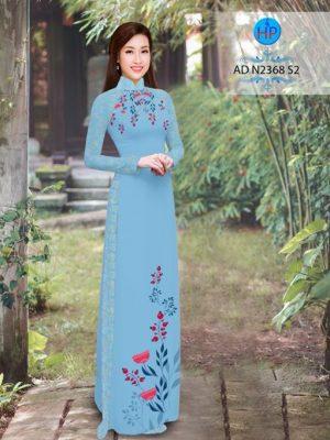 Vải áo dài hoa hướng dương AD TNAD 2892 20