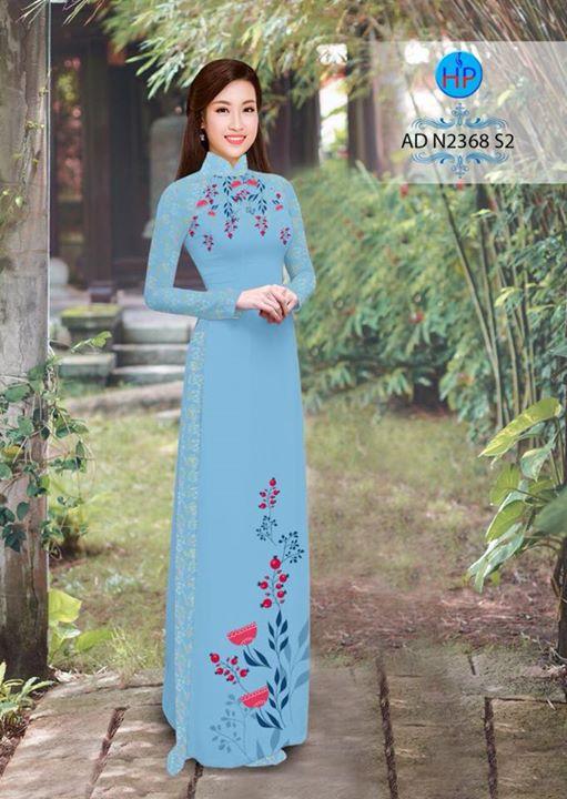 Vải áo dài hoa hướng dương AD TNAD 2892 8