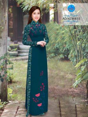 Vải áo dài hoa hướng dương AD TNAD 2892 21