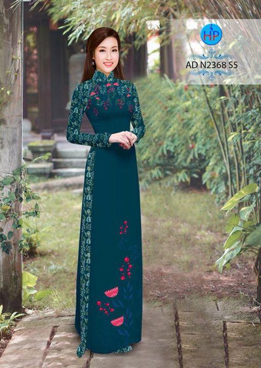 Vải áo dài hoa hướng dương AD TNAD 2892 9