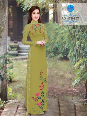 Vải áo dài hoa hướng dương AD TNAD 2892 22