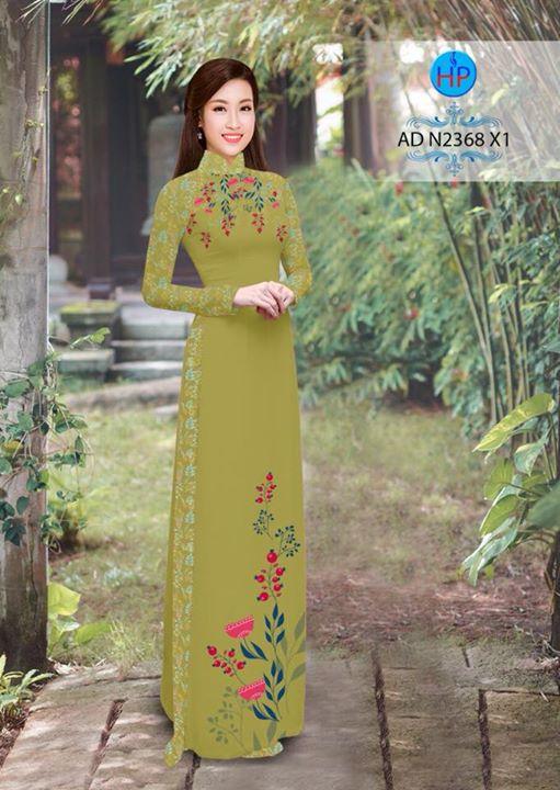 Vải áo dài hoa hướng dương AD TNAD 2892 10