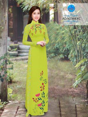Vải áo dài hoa hướng dương AD TNAD 2892 23