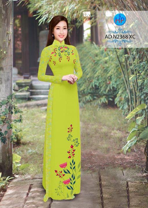 Vải áo dài hoa hướng dương AD TNAD 2892 11