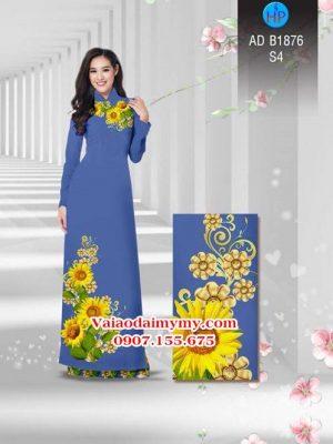 Vải áo dài Hoa hướng dương AD B1876 14