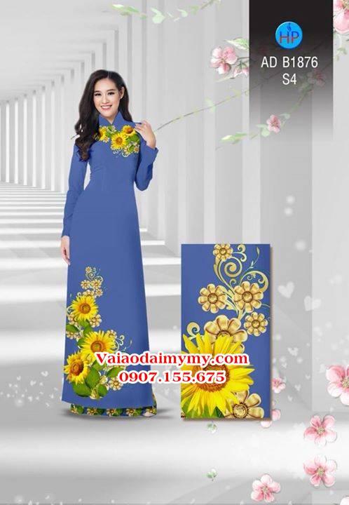 Vải áo dài Hoa hướng dương AD B1876 2