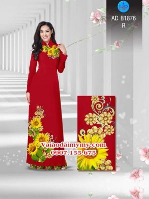 Vải áo dài Hoa hướng dương AD B1876 15