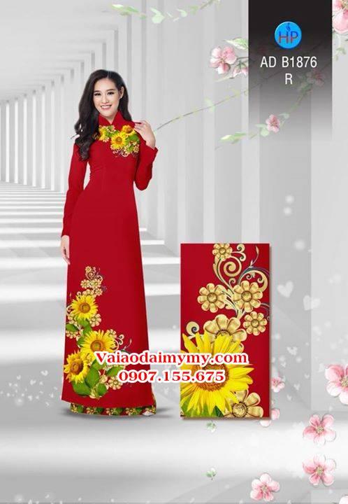 Vải áo dài Hoa hướng dương AD B1876 3