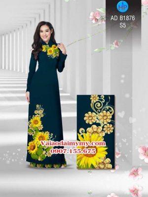 Vải áo dài Hoa hướng dương AD B1876 16