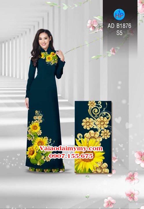 Vải áo dài Hoa hướng dương AD B1876 4