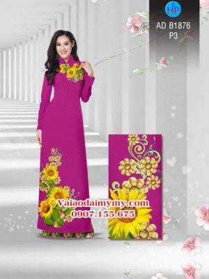 Vải áo dài Hoa hướng dương AD B1876 17