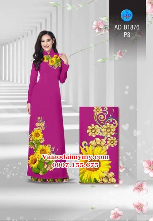 Vải áo dài Hoa hướng dương AD B1876 5