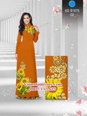 Vải áo dài Hoa hướng dương AD B1876 19