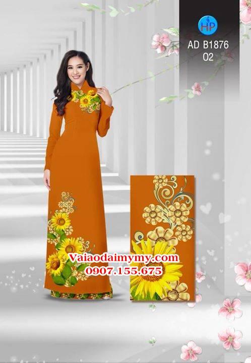 Vải áo dài Hoa hướng dương AD B1876 7