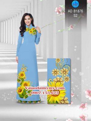 Vải áo dài Hoa hướng dương AD B1876 18
