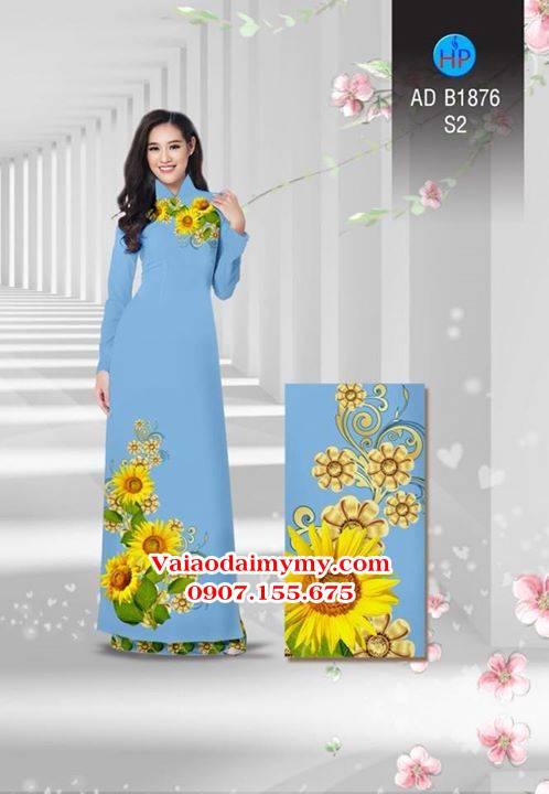Vải áo dài Hoa hướng dương AD B1876 6