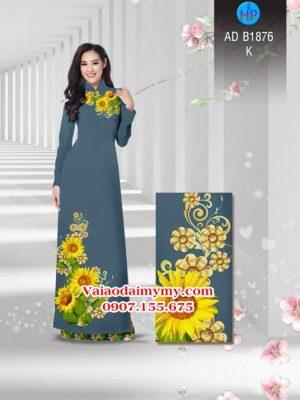 Vải áo dài Hoa hướng dương AD B1876 20