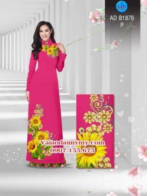 Vải áo dài Hoa hướng dương AD B1876 23