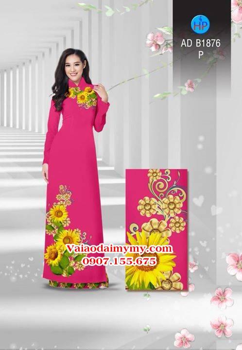 Vải áo dài Hoa hướng dương AD B1876 11