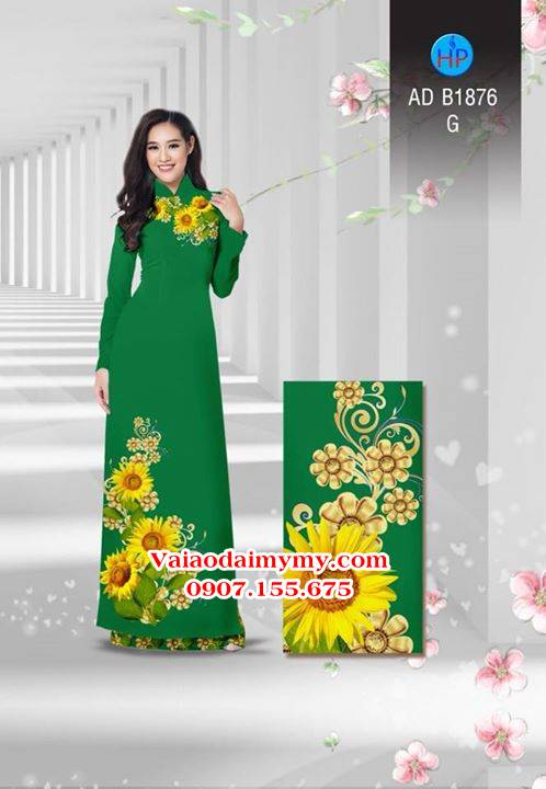 Vải áo dài Hoa hướng dương AD B1876 12