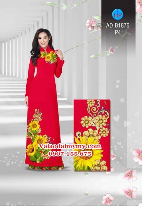 Vải áo dài Hoa hướng dương AD B1876 9