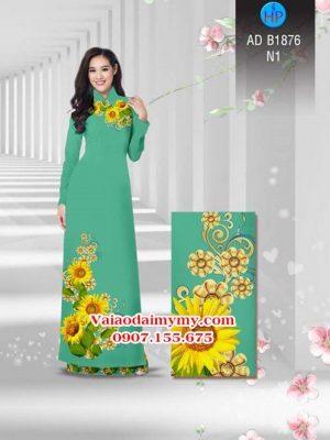Vải áo dài Hoa hướng dương AD B1876 22
