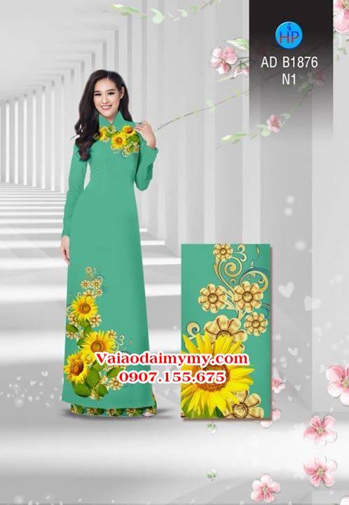 Vải áo dài Hoa hướng dương AD B1876 10