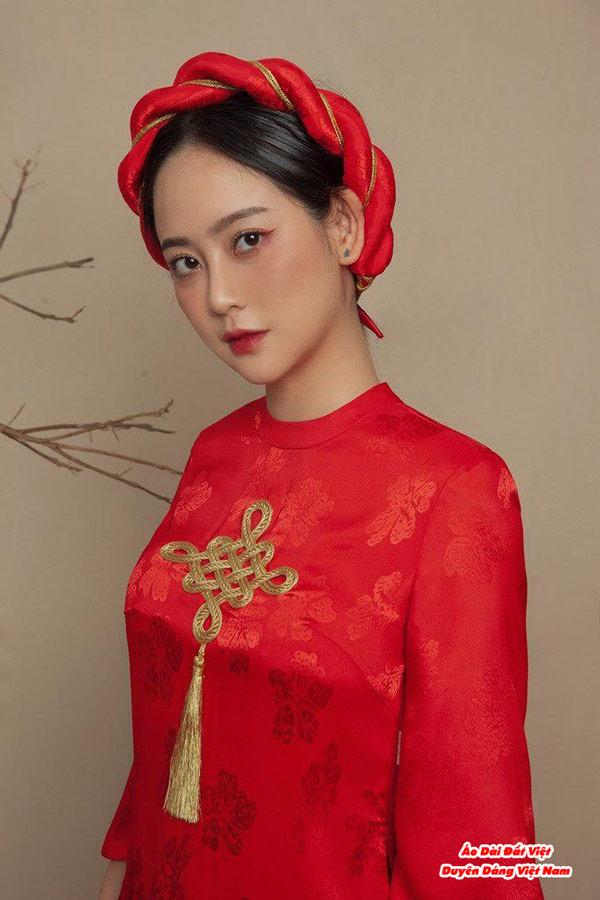 30 Mẫu Áo Dài Cưới Màu Đỏ Đẹp Hiện Nay 28