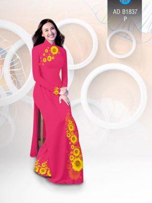 Vải áo dài hoa hướng dương AD B1837 14