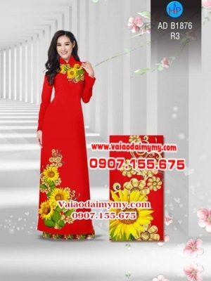 Vải áo dài Hoa hướng dương AD B1876 13