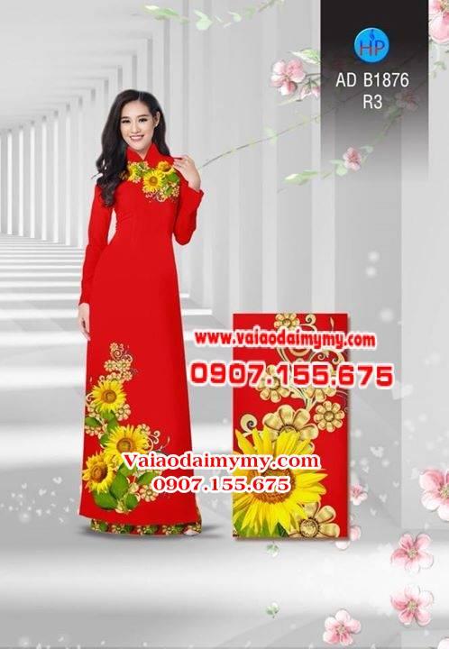 Vải áo dài Hoa hướng dương AD B1876 1