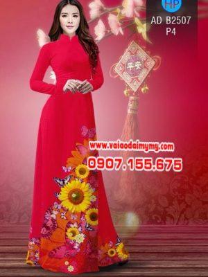 Vải áo dài Hoa hướng dương AD B2507 14