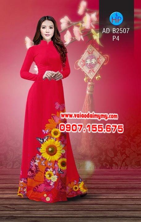 Vải áo dài Hoa hướng dương AD B2507 2