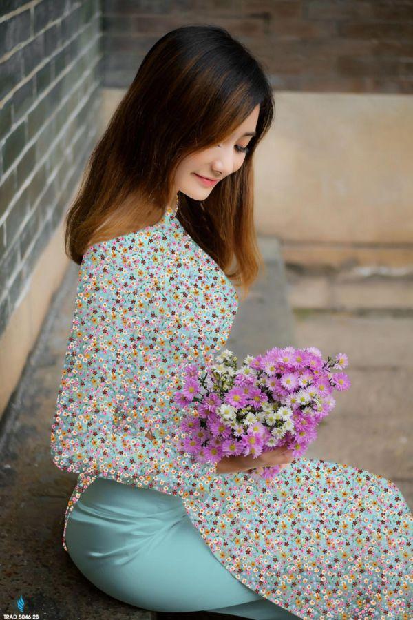 10 Mẫu Vải Áo Dài Hoa Nhí Đang Được Chọn Nhiều Tháng 7 3