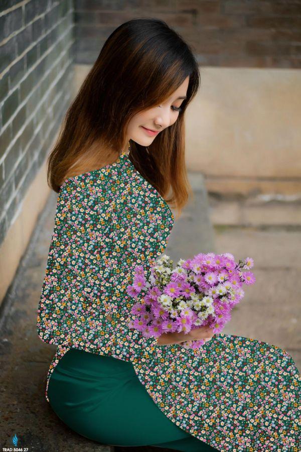 10 Mẫu Vải Áo Dài Hoa Nhí Đang Được Chọn Nhiều Tháng 7 1
