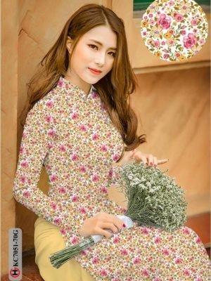 Vải áo dài hoa nhí AD KC7051 15