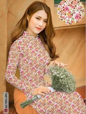 Vải áo dài hoa nhí AD KC7051 21
