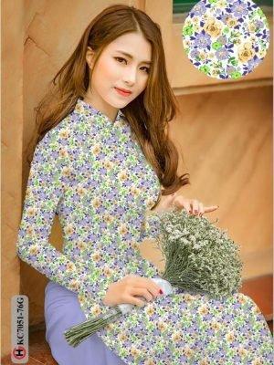 Vải áo dài hoa nhí AD KC7051 18