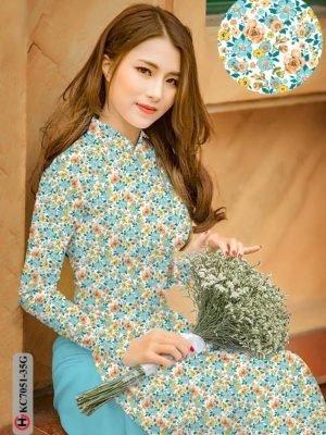 Vải áo dài hoa nhí AD KC7051 23