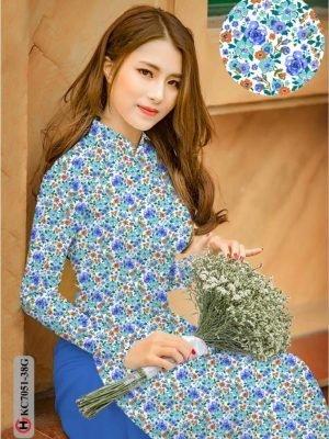 Vải áo dài hoa nhí AD KC7051 22