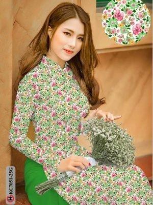 Vải áo dài hoa nhí AD KC7051 24