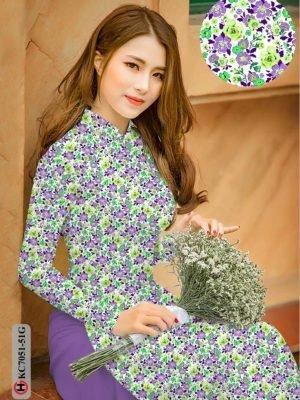 Vải áo dài hoa nhí AD KC7051 19
