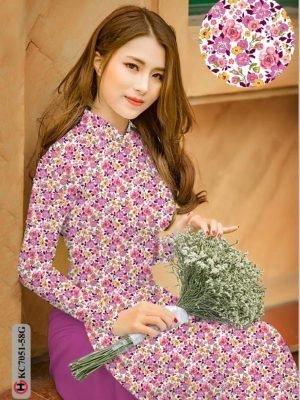 Vải áo dài hoa nhí AD KC7051 17