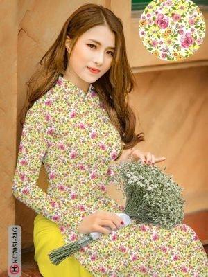 Vải áo dài hoa nhí AD KC7051 25