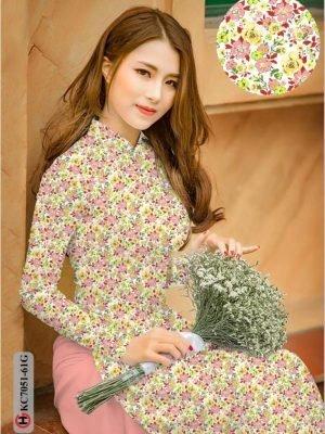 Vải áo dài hoa nhí AD KC7051 16
