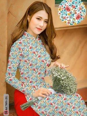 Vải áo dài hoa nhí AD KC7051 27