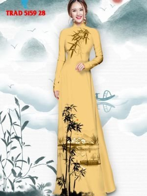 Vải áo dài hình cây tre trúc AD TRAD 5159 39