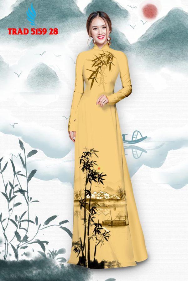 Vải áo dài hình cây tre trúc AD TRAD 5159 19
