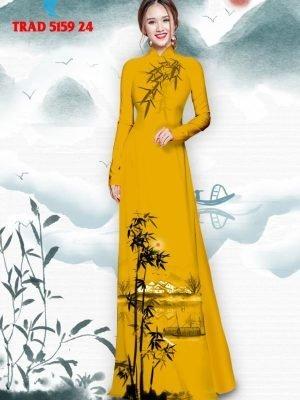 Vải áo dài hình cây tre trúc AD TRAD 5159 35